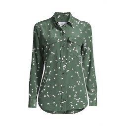 Starry Night Slim Signature Silk Shirt