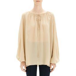 Gathered Silk Tunic