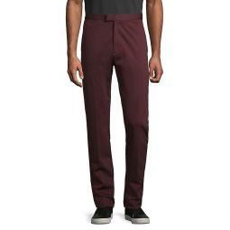 Flat-Front Cotton-Blend Pants