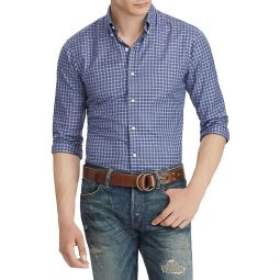 Plaid Cotton Twill Long Sleeve Shirt