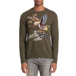 Embroidered Cashmere & Silk Sweater