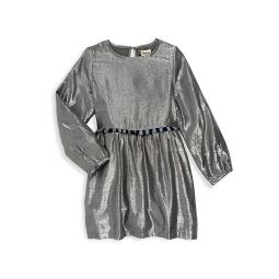 Little Girls & Girls Metallic Cotton-Blend Party Dress
