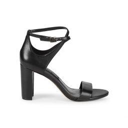 Nunzaya Crossover Ankle Strap Leather Sandals
