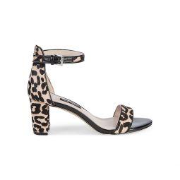 Leopard Print Cow Hair dOrsay Sandals