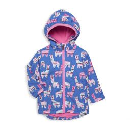 Little Girls & Girls Adorable Alpacas Rain Jacket
