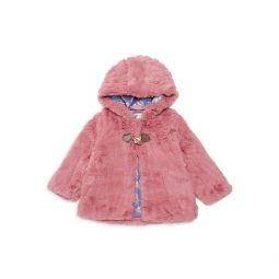 Baby Girls Hooded Faux Fur Jacket