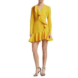 V-Neck Ruffle Mini A-Line Dress