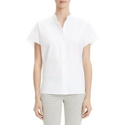 Perfect Cotton Short Sleeve Blouse