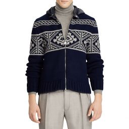 Wool & Cashmere Zip-Up Hooded Cardigan