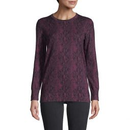 Printed Cotton & Cashmere-Blend Sweater