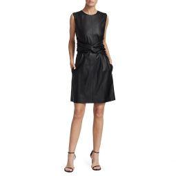 Twist Waist Sleeveless Dress