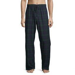Plaid-Print Pajama Pants