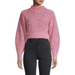Ribbed Cotton-Blend Cropped Sweater