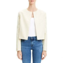 Luxe Linen Cropped Jacket