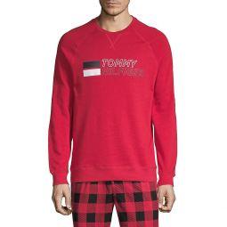 Sleepwear Logo Cotton-Blend Sweatshirt
