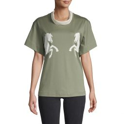Horse Graphic Cotton-Blend Tee