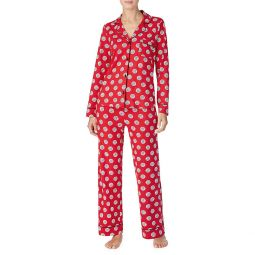 2-Piece Poka Dot-Print Pajama Set
