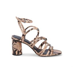 Apolline Too Embossed-Snakeskin Leather Strappy Sandals