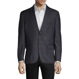 Standard-Fit Check Wool-Blend Sportcoat