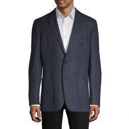 Standard-Fit Wool-Blend Blazer