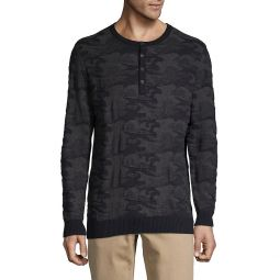 Camouflage Cotton Henley
