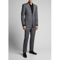 Mens Anthony Two-Piece Sharkskin Suit