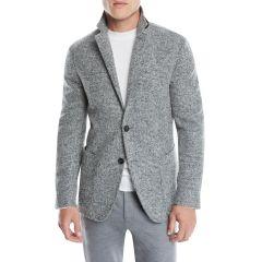 Mens Two-Button Plaid Alpaca/Wool Blazer Jacket