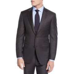 Mens Plaid Two-Piece Wool Suit