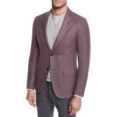 Mens Button-Up Silk Blazer