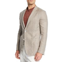 Mens Crossover Linen Sport Coat