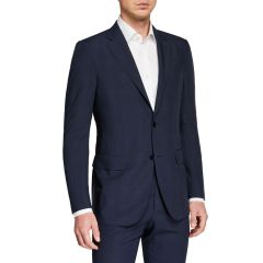 Mens Leggerissimo Two-Piece Solid Wool-Silk Suit