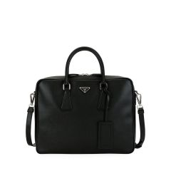Mens Saffiano Leather Travel Briefcase