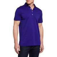 Mens Pique Pocket Polo Shirt Royal