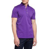 Mens Pique Pocket Polo Shirt Violet