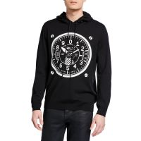 Mens Dial Graphic Pullover Hoodie