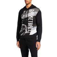 Mens Basketball Cashmere Pullover Hoodie