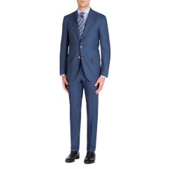 Mens Solid Stretch Two-Piece Suit