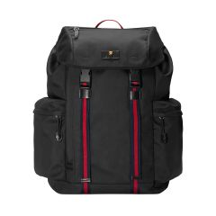Mens Techno-Canvas Flap Backpack
