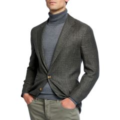 Mens Prince of Wales Plaid Sportcoat