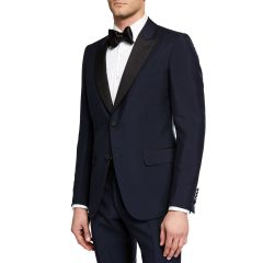 Mens Wool Two-Piece Tuxedo Suit