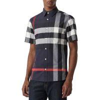 Mens Windsor Check Short-Sleeve Shirt