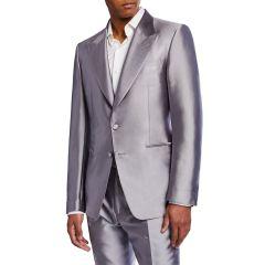 Mens Metallic Shawl-Collar Dinner Jacket