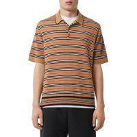 Mens Beaford Striped Wool Polo Shirt