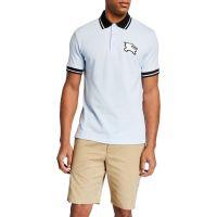 Mens Boedon Logo-Applique Varsity Polo Shirt