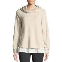 ruffle pullover layered hoodie
