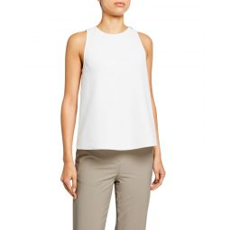 Structured Crepe Tank with Twist-Back Detail