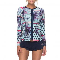 Roxy1mm Pop Surf Front Zip Scallop Wetsuit Jacket - Womens