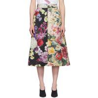 Multicolor Brocade Floral Skirt