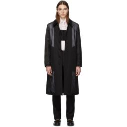 Black Double Layered Trench Coat