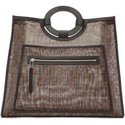 Brown Mesh Large Forever Fendi Tote